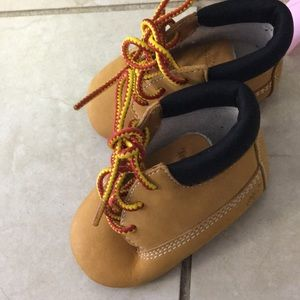 New born timberland booties